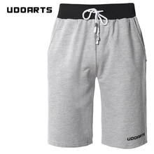 Udoarts Men's Sports Fleece Jogger 100% Cotton Elastic Gym Shorts