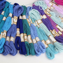 50/100PCS Cross Stitch Cotton Embroidery Thread Floss Sewing Skeins Craft Hot Sale