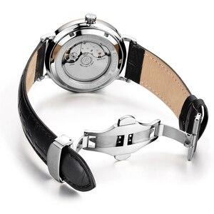 Image 3 - NAKZEN Men Business Automatic Mechanical Watches Brand Luxury Leather Man Wrist Watch Male Clock Relogio Masculino Miyota 9015