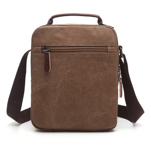 Image 3 - Z.L.D. New vertical canvas school bag high quality messenger bag military shoulder bag large capacity handbag small square bag