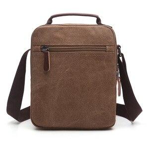 Image 3 - Z.L.D. Новая вертикальная холщовая школьная сумка, мессенджер высокого качества, военная сумка на плечо, вместительная маленькая квадратная сумочка