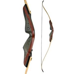 Image 3 - 1 세트 62 인치 양궁 안정제 25 50lbs 로 활을 되찾으십시오 무게 오른손 장궁 사냥 활 사격 사냥 액세서리