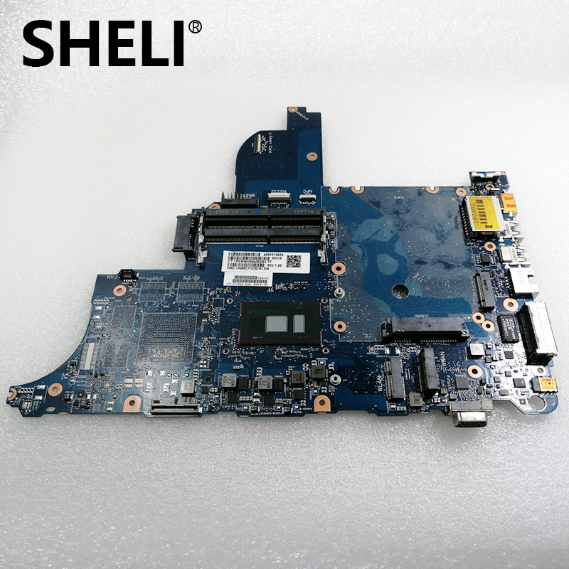 SHELI FOR HP PROBOOK 640 G2 650 G2 Laptop Motherboard W/ I3-6100U CPU CIRCUS- 852724-001 DDR4