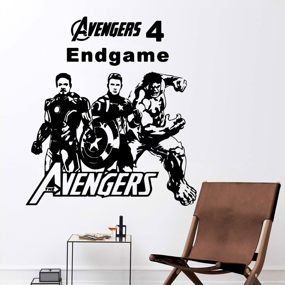 Hot superheroes Decal Removable Vinyl Mural Poster For Kids Rooms Diy Home Decoration Art
