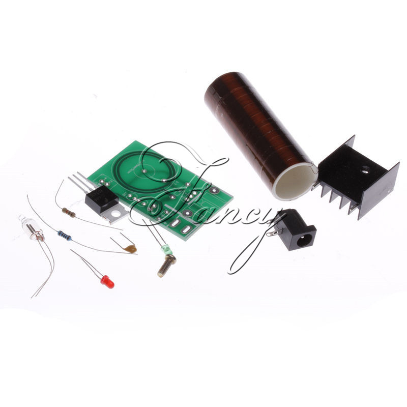 DC 12V Mini DIY Tesla Coil Kit Arc Wireless Electric Power