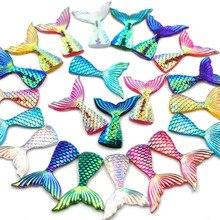 Стразы в виде рыбьего хвоста из смолы, хвост русалки, рыбья чешуя, кристалл, аппликация, хрустальные украшения для одежды, стразы для рукоделия