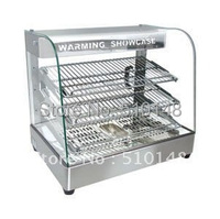 PKVI 862 curved glass warming showcase food display warmer hot food heating display showcase display cabinet