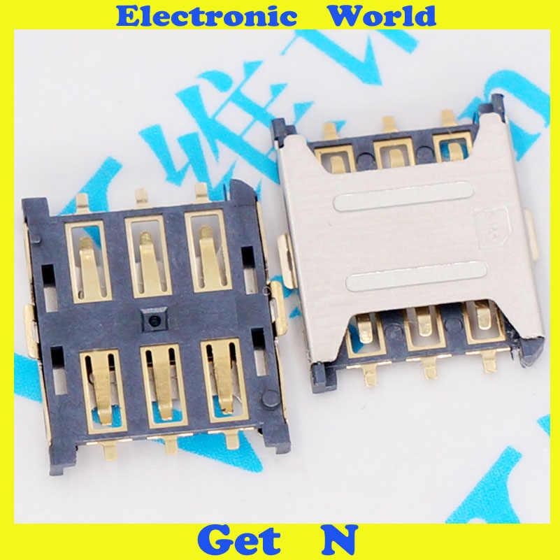 20 piezas Nano-SIM 6P Mini tarjeta tapón de soporte tipo Nano sim conector de enchufe