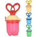 1Pcs Baby Pacifier Fresh Food Milk Nibbler Feeder Kids Nipple Feeding Safe Baby Fruits Teat Pacifier Bottles