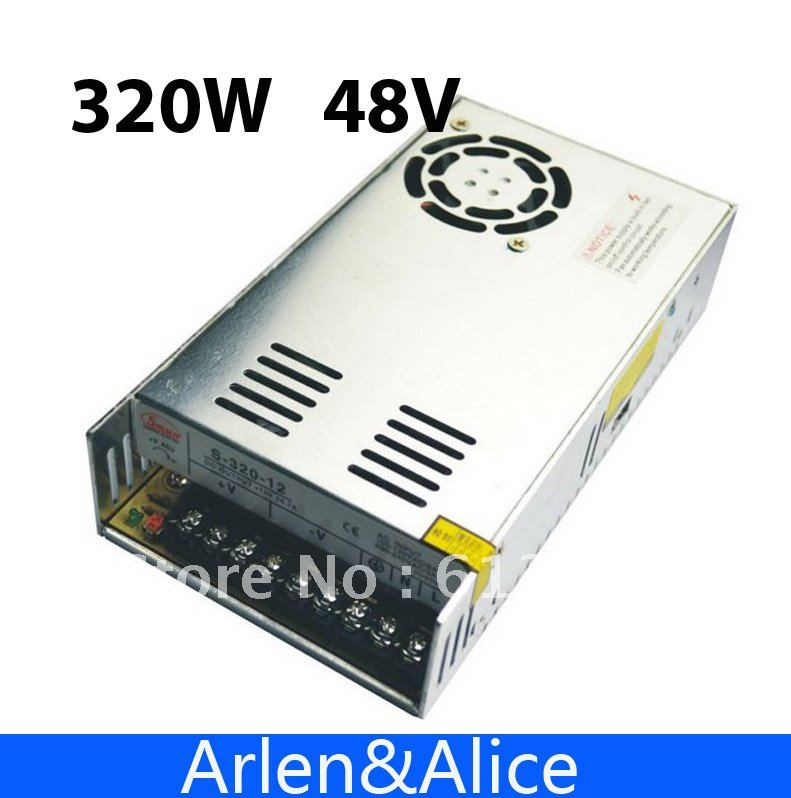 320W 48V 6.5A Single Output Switching power supply for LED Strip light AC to DC ac 85v 265v to 20 38v 600ma power supply driver adapter for led light lamp