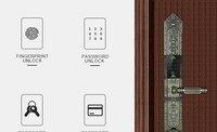 F5B интеллектуальные рф Сенсор Smart отпечатков пальцев код ключа Сенсорный экран цифровой пароль Электронный Anti Theft замок