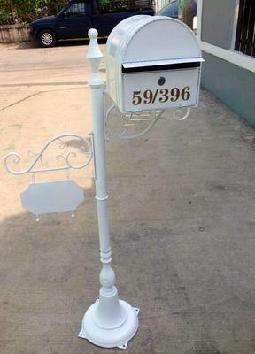 wrought iron mailbox post european style wrought iron outdoor mailbox villa 1666