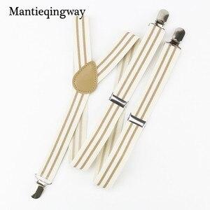 Mantieqingway Fashion Adjustable Polyester Elastic Suspenders Women/Men Shirt Pants Suspender Braces Belt Strap for Adult Brace