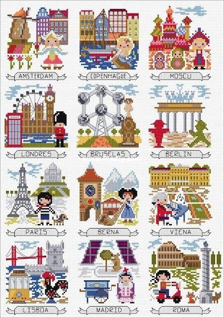 European travel cross stitch kit DMC brand thread animal dog count canvas fabric embroidery handmade needlework