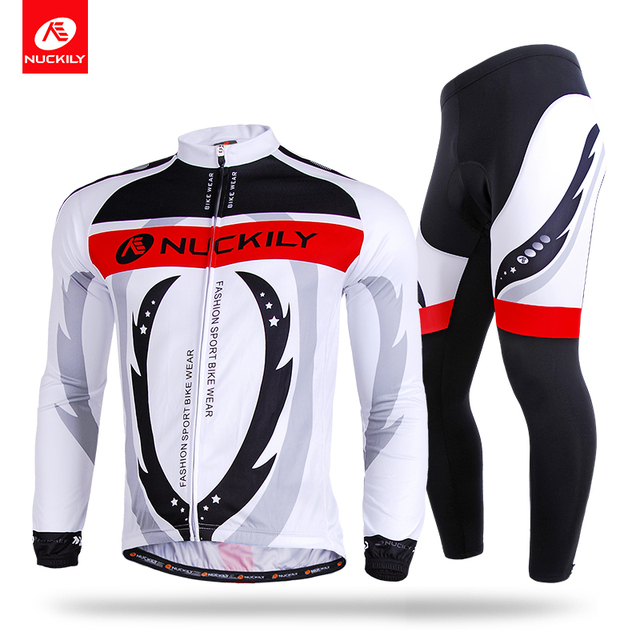 NUCKILY Men Long Sleeve Cycling Jersey Set Custom Sublimation Printed Bike  Apparel Cycle Pad Tights For Spring Autumn CJ125CK125 4e4013361
