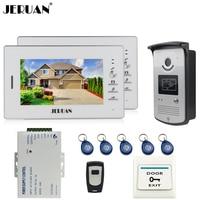 Brand New 7 Color Screen Video DoorPhone Intercom System 2 Monitors 700TVL RFID Access Camera Remote