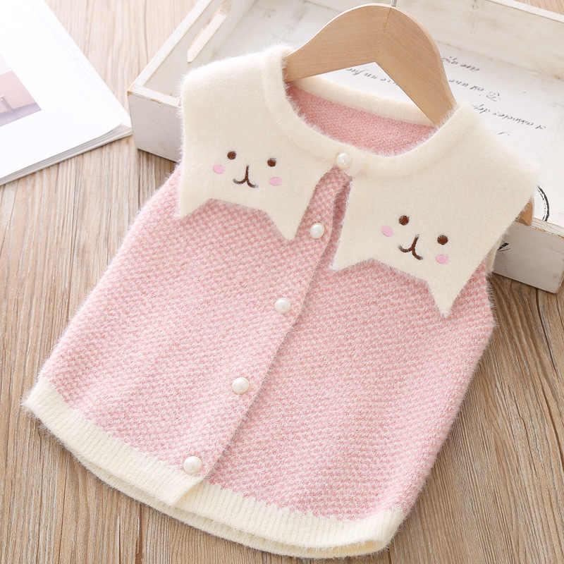 Winter Herfst Baby Meisjes Cartoon Vest Trui Voor Meisje Leuke Knit Wear Kleding Kinderen Kids Baby Truien Bovenkleding