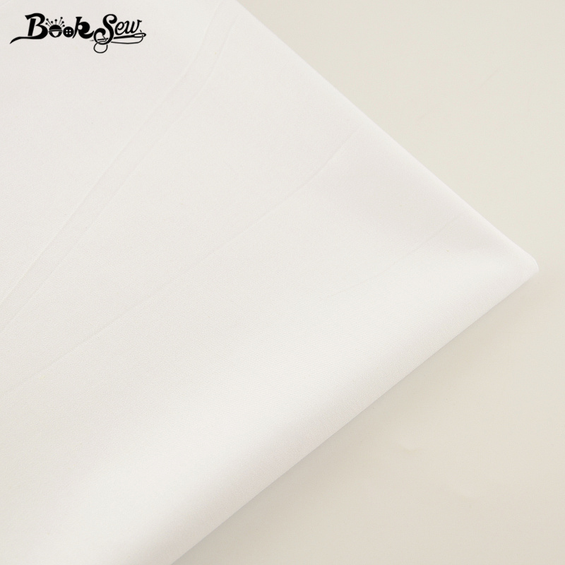 Booksew 100% Cotton Fabric White Color Telas Por Metro Home Textile Material Bedsheet Cloth DIY Quilting Tecido Baby Dress Tissu