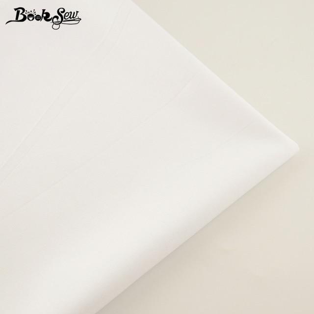 Booksew 100% Katoen Stof Wit Kleur Telas Por Metro Thuis Textiel Materiaal Laken Doek DIY Quilten Tecido Baby Jurk Tissu