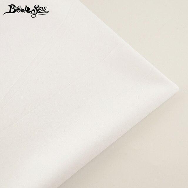 Booksew 100% Katoen Stof Wit Kleur Twill Thuis Textiel Laken Zachte Doek Quilten Tecido Baby Beding Poppen