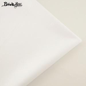 Booksew 100% Cotton Fabric White Color Telas Por Metro Home Textile Material Bedsheet Cloth DIY Quilting Tecido Baby Dress Tissu