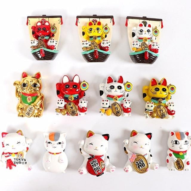 kitchen magnets compact sink tourist souvenir tokyo japan plutus cat fridge 3d refrigerator magnet sticker travel