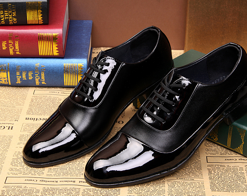 New Men S Wedding Shoes Unique Black Shine Joining Together Prom Groom 4nx26 Sssj In Women Flats From On Aliexpress Alibaba