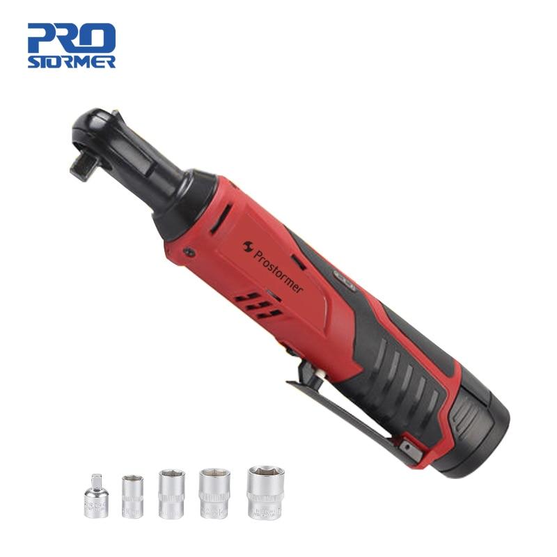 Prostormer 12 В перезаряжаемый трещотка Ключ 90 градусов электрический ключ портативный литиевый аккумулятор быстрая зарядка ключ сценическая фе...