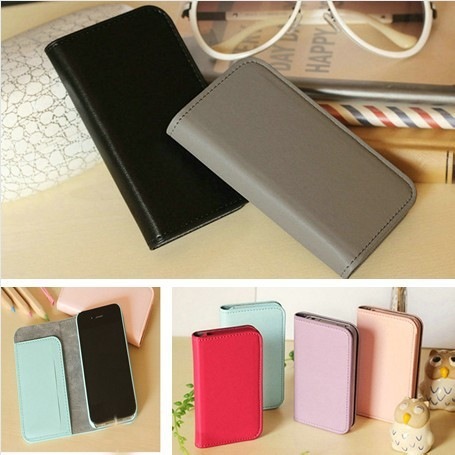 Smart  Wallet case for Iphone 4 4s with card holder flip leather handbags for iphone4s luxury cases mobile phone cover 2013