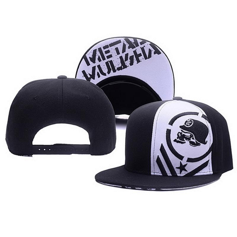 Unisex Letter Embroidery Baseball Cap Women Outdoor Sports Sun Flat Hat Men Fashion Metal Mulisha Hip Hop Snapback Caps CP0123 4