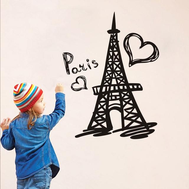 Paris Eiffel Tower Wall Decal Vinyl Stickers Paris Symbol Romantic France  Art Murals Bedroom Home Decor