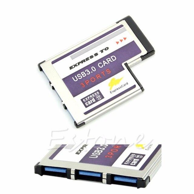 1 ชุด 54 มม.3 พอร์ตอะแดปเตอร์ USB 3.0 ExpressCard สำหรับแล็ปท็อป FL1100 ชิปใหม่