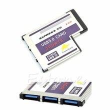 1 takım 54mm ekspres kart 3 Port USB 3.0 adaptörü Expresscard dizüstü bilgisayar için FL1100 çip yeni