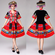 women Hmong Clothes traditional Chinese costume Classic dance dress Miao dancing clothing vintage stage performance wear