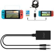 Gaming 3.5 millimetri Audio Chat Adattatore Chating Adattatore Per Nintendo Nintend Interruttore NS Console Con Temperato Pellicola Della Protezione Dello Schermo