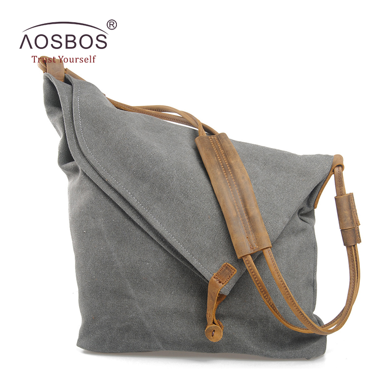 Vintage Shoulder Bags High Quality Cowhide Canvas Handbags Casual Zipper Solid Crossbody Bag Tote with Genuine Leather strap