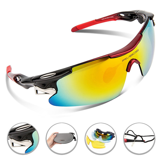 Outdoor Polarized Protective Fishing Glasses Sunglasses men Eyeglasses 5 Interchangeable Lens Sports Eyewear polarizada gafas