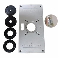 700C Aluminum Router Table Insert Plate For Woodworking Benches With 4pcs Insert Rings Engrving Machine