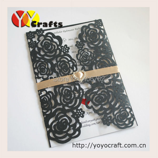 new arrival rose laser cut wedding invites for wedding decorations