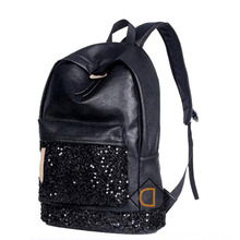 New 2017 Fashion Women Backpacks Big Crown Embroidered Sequins Bagpack Wholesale Leather PU Backpack School Bags For Teenagers
