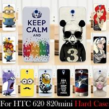 Para HTC 620 820 mini caixa de plástico rígido Mobile Case capa do telefone DIY cor Paitn de bolsa de celular transporte Shell livre