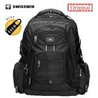 Swisswin 17 3 Inch Men S Laptop Backpack Waterproof Nylon Notebook Computer Bag High Quality 37L