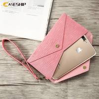 CASESHIP 5 5 Inch Universal Phone Wallet For IPhone 7 6s 6 Plus Toothpick Pattern Leather