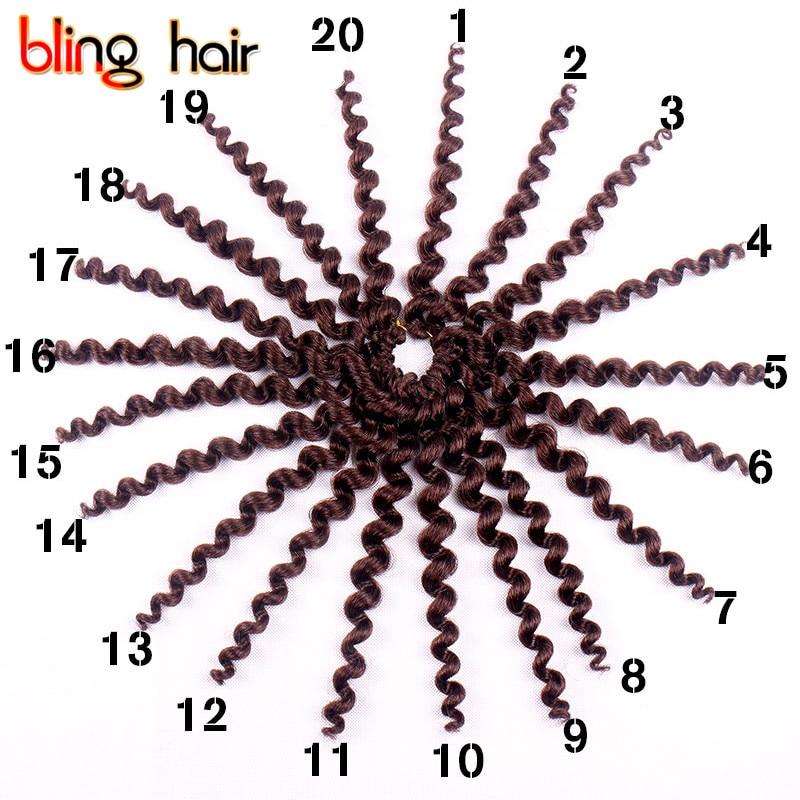 Bling Hair Extension Free Gifts Crochet Kanekalon Twist Braiding Hair Synthetic Wand Curl Twist Crochet Hair Weaving