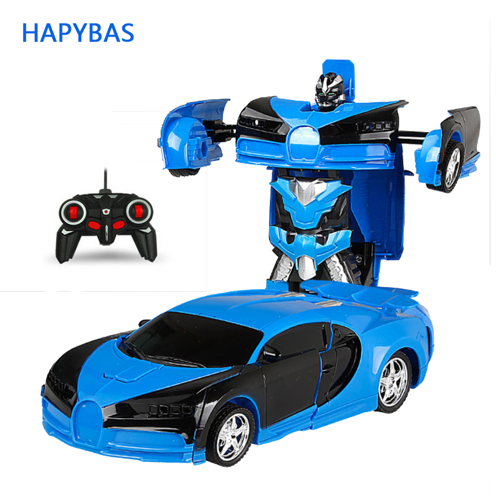 RC Transformer 2 In 1 RC Car Driving Transformation Robots Cars Models Remote Control Car RC Fighting Toy New Year Gift