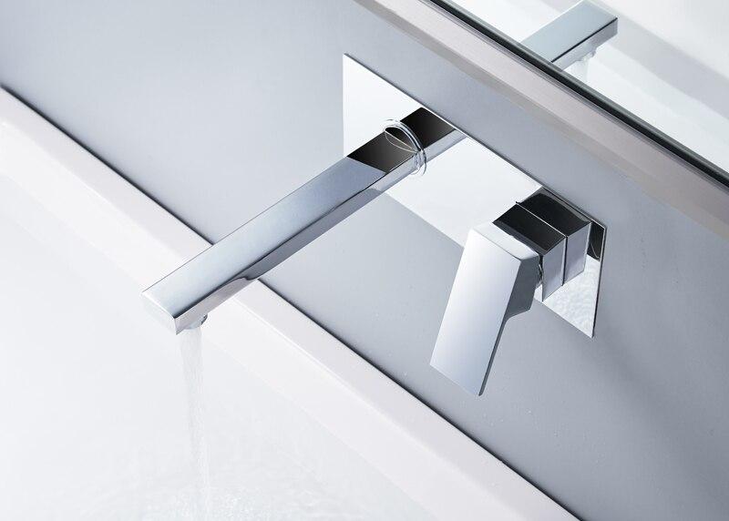 Torneira para lavatório de torneira de banheiro montado na parede com caixa embutida Torneira torneira de pia oculta B-325