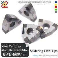 Boron Nitride CBN Insert WNGA080408 Or WNGA432 Blade For Cutting High Hardness Materials Boring Bar CNC