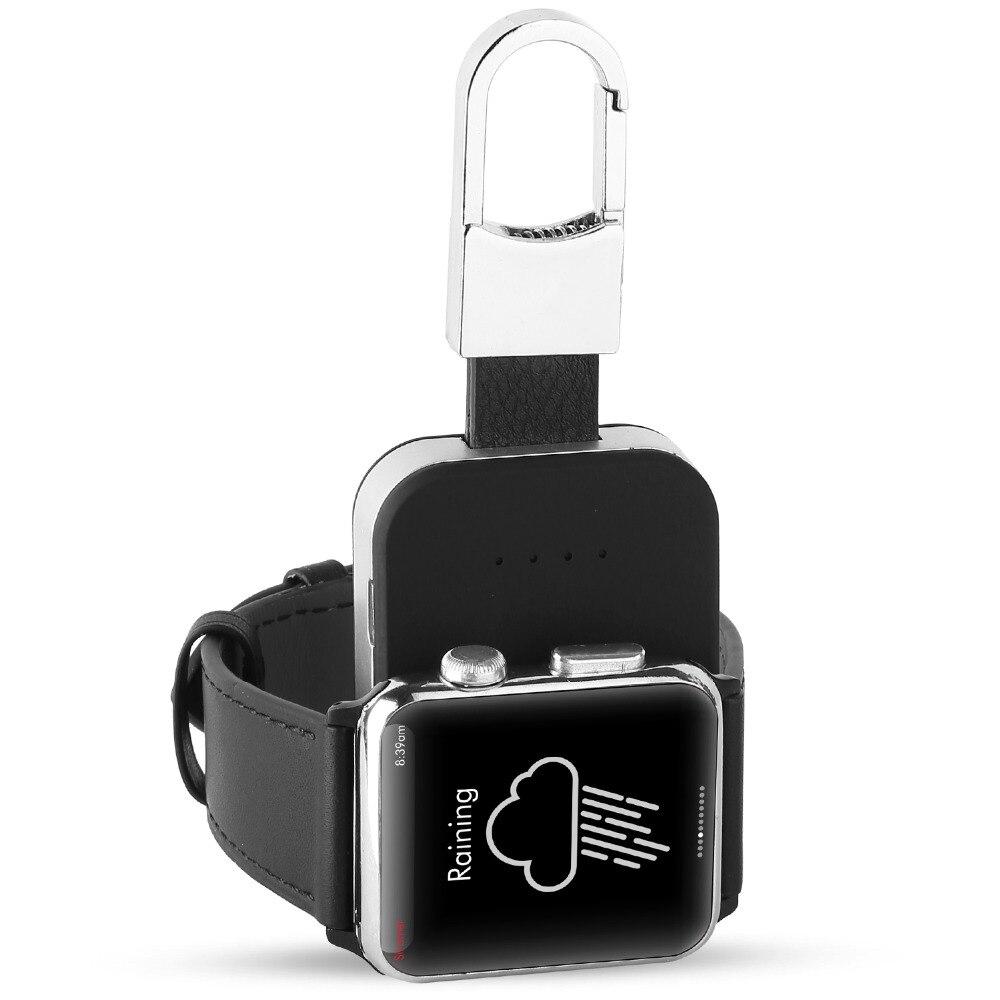 Banco de la energía 950 mah Paquete de batería externa de cargador inalámbrico QI para Apple Watch 1, 2, 3, 4, serie portátil al aire libre mini cargador