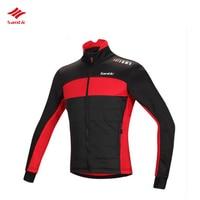 Santic зимние Для мужчин куртка с длинным рукавом Термальность руно ветрозащитный Водонепроницаемый Велоспорт Джерси MTB Горный Велоспорт кур...