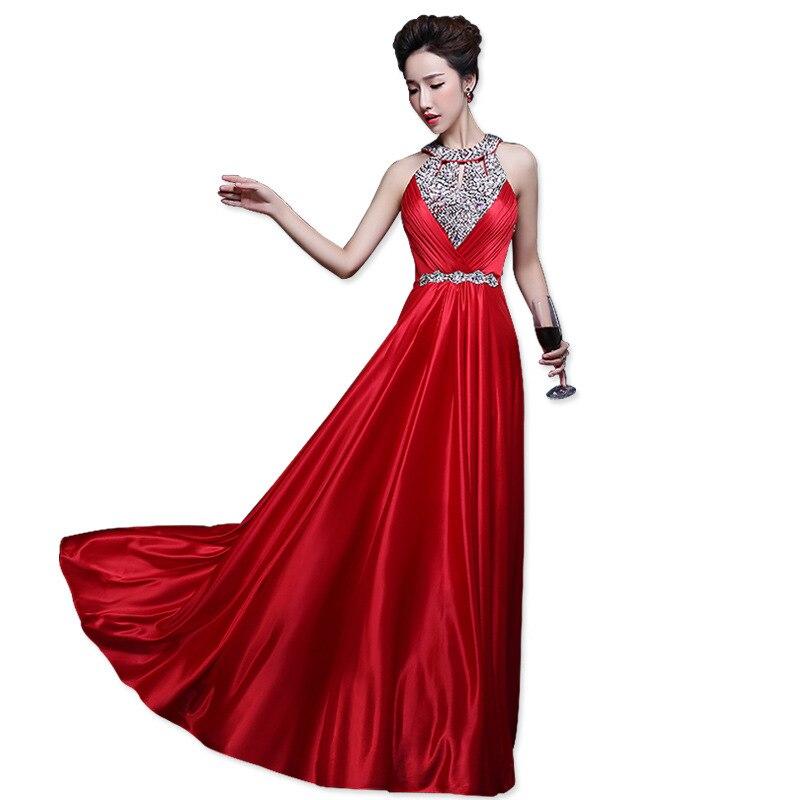 Perle pu rouge Robes Soirée Hiver Ciel noir Sexy Dos Noir fushcia Pyjamas Automne Femmes 2019 bourgogne pourpre bleu Nu or De Élégante Satin Maxi Rouge rose Longue Robe vTx4R7w4q